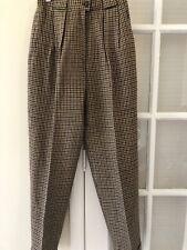 Vintage Jones New York Pants Pleated Cuffed Wool Lined High Waist Usa Made