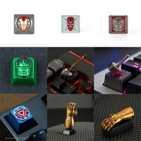 The Avengers Iron Man Deadpool Artisan Keycap R4 OEM Zinc-Aluminium Alloy Gift