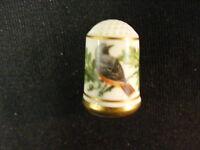 1979 Franklin Porcelain Bird Thimble Phoenicurus