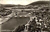Miltenberg am Main alte Postkarte ~1960 Panorama Gesamtansicht Main-Brücke