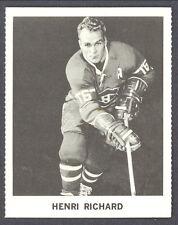 1965 COCA-COLA COKE HENRI RICHARD MONTREAL CANADIENS HOCKEY CARD
