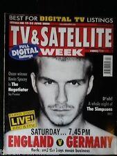 TV & SATELLITE WEEK - ENGLAND v GERMANY - 17 JUNE 2000