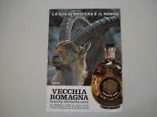 advertising Pubblicità 1971 BRANDY VECCHIA ROMAGNA ETICHETTA NERA