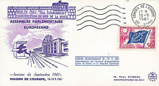 """AP21 FDC Council of Europe """"Building of the Shame Wall - BERLIN WALL"""" 1961"""