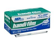 "Handi-Film 12""x2000' Plastic Food Service Film Cling Wrap w/Safety Slide Cutter"