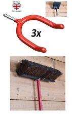 """3x U-Shape Screw-in Tool Hooks 4"""" to Hang Heavy Tools 8mm in Diameter"""