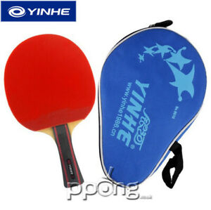Yinhe Milky Way Table Tennis Bat + black case ITTF approved rubbers  06B UK P&P