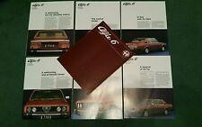 Alfa Romeo Alfa 6 Berlina 1979 1980 1981 - 7 parte cartera Reino Unido Folleto