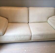 Roche Bobois White Leather Sofa