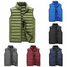 Men Winter Quilted Sleeveless Padded Puffer Vest Athleic Work Jacket Coat Jacket