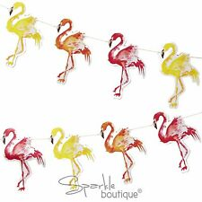 Tropical FLAMINGO BUNTING (Garland/Banner/Decoration) BBQ/Summer Party/Hawaiian