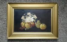 ❇ Antique still life oil painting, signed indistinctly.