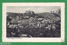 Marburg Panorama vor 1939 ungelaufen, beschrieben, Eckknick