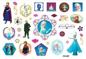 Elsa Anna Temporary Tattoo Sheets stickers Children Kids Birthday Party Bag