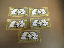 (5) REPLACEMENT 1991 FRANKLIN MINT COLLECTOR'S MONOPOLY $500 BILL DOLLAR MONEY