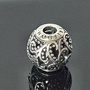 Pandora Essence Collection Openwork Swirls Freedom Silver Charm 796012 FreePost