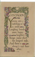 Antique 1911 Posted Postcard Divided Back Contagion Chicago 645 Purple Flowers