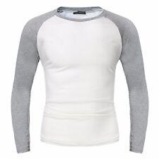 INCERUN Men's Casual Slim Fit Long Sleeve Crew Neck Raglan T-shirt Top Tee S-4XL