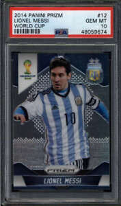 LIONEL MESSI 2014 PANINI PRIZM WORLD CUP #12 PSA 10 GEM MINT (ARGENTINA) FC6764