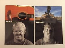 LOT OF 2 1991 PINNACLE PRO SIDELINE FOOTBALL TRADING CARDS #395 AND #407