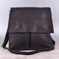 Tasche Cross Bag Vera Pelle Italy Leder Schultertasche Umhängetasche Schwarz