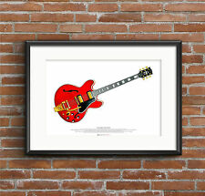 Noel Gallagher's 1960's Gibson ES-355 guitar ART POSTER A2 size