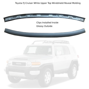 Toyota FJ Cruiser Upper Top Windshield Reveal Molding GRAY GLOSSY OUTSIDE
