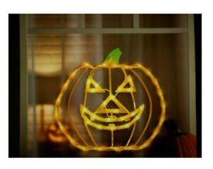 Halloween Lighted Jack-o-Lantern Pumpkin Window Decoration – 1 Piece