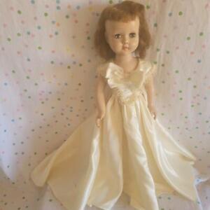 """Vintage 18-19"""" EFFANBEE WALKER DOLL- HONEY? LITTLE LADY? Bride Satin Dress"""
