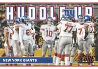 2017 Score Football Huddle Up #7 Eli Manning New York Giants