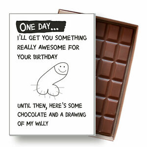 Birthday Card for Girlfriend Funny Wife Gift Rude Novelty Boxed Chocolate Bar