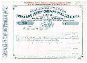 Trust and Agency Company of Australasia Ltd., 1913, SPECIMEN, VF