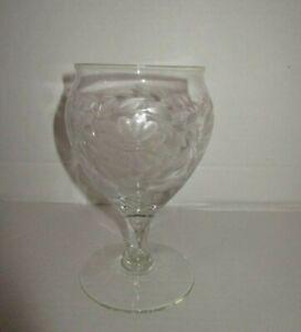 Antique Art Deco WJ HUGHES CORNFLOWER Engraved 12 Petal Candy Bowl Vase c 1920!