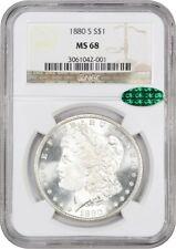 1880-S $1 NGC/CAC MS68 - Blazing White! - Morgan Silver Dollar - Blazing White!