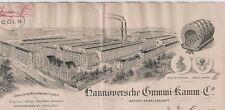 Hannoversche Gummi-Kamm AG Hannover hist Rechnung 1910 Conti Gummi Niedersachsen
