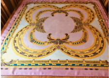 MUST DE CARTIER SILK TWILL SCARF. BEJEWELLED! FAB CONDITION. 35 x 34 INCHES. 0