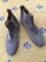 Hermes Mens Shoes Grey Suede Chelsea Ankle Boots UK 8.5 US 9.5 EU 42.5 8 9 42