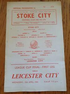 1964 League Cup Final 1st Leg - Stoke City v Leicester City