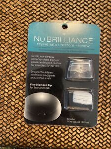 NuBrilliance Microdermabrasion Replacement FINE Diamond Tip & Filters New