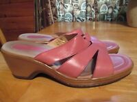 Womens DANSKO Pink Comfort Sandals Clogs Wedges Heels Shoes Sz 39 EU 8 US
