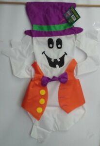 Ghost in Fancy Vest 3D Windsculpt House Flag by NCE #70911, Fun Shape!