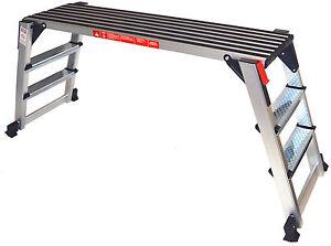Arbeitsplattform 70cm hoch Arbeitsbühne Gerüstleiter Tritt Stufentritt Aluleiter