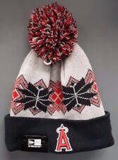 New Era MLB Angel's Beanie Knit Hat - Gray/Black