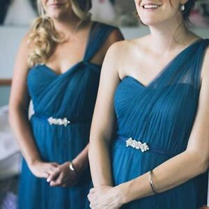 Small Silver Crystal Bridesmaid Sash Petite Bridal Belt Wedding Bridesmaid Belt