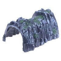 Plastic 1:87 Scale Model Toy Train Railway Cave Tunnels Sand table Model toyCHP