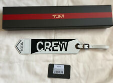 Tumi Crew Luggage Tag Black/White NIB $85
