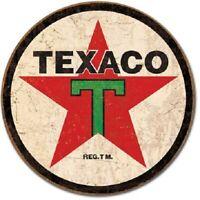 Texaco MOTOR OIL Co  Vintage Style Metal Signs 12'' Garage Man Cave Decor