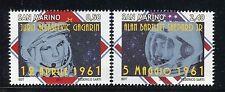 SAN MARINO 2011 GAGARIN SHEPARD-50th ANN.FIRST MENS IN SPACE/PORTRAIT/STARS