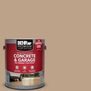 Concrete Garage Floor Paint 1-Part Epoxy Satin 1 Gal/5 Gal Self-Priming Home