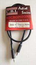 C.B.I. Artist Series Microphone BLMM-3 Instrument Cable XLR Connectors